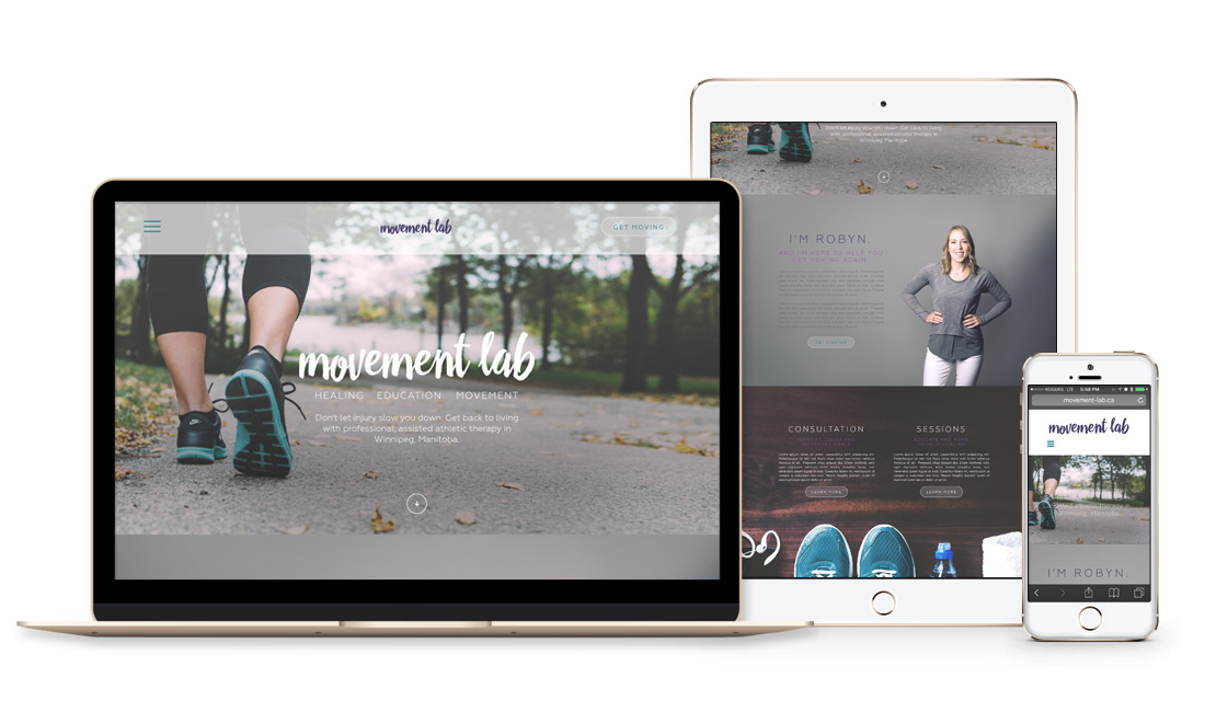 Winnipeg Web Design and Branding, Responsive Website Design for Movement Lab in Winnipeg, Manitoba