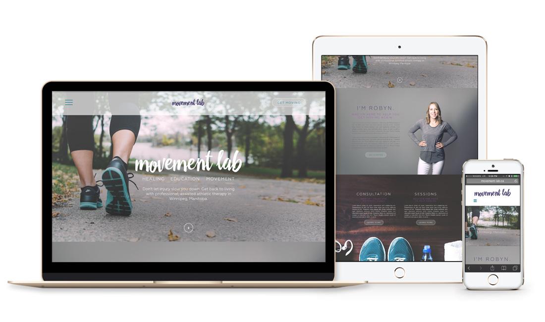 Winnipeg Web Design and Branding, Responsive Website Design for Movement Lab in Winnipeg, Manitoba