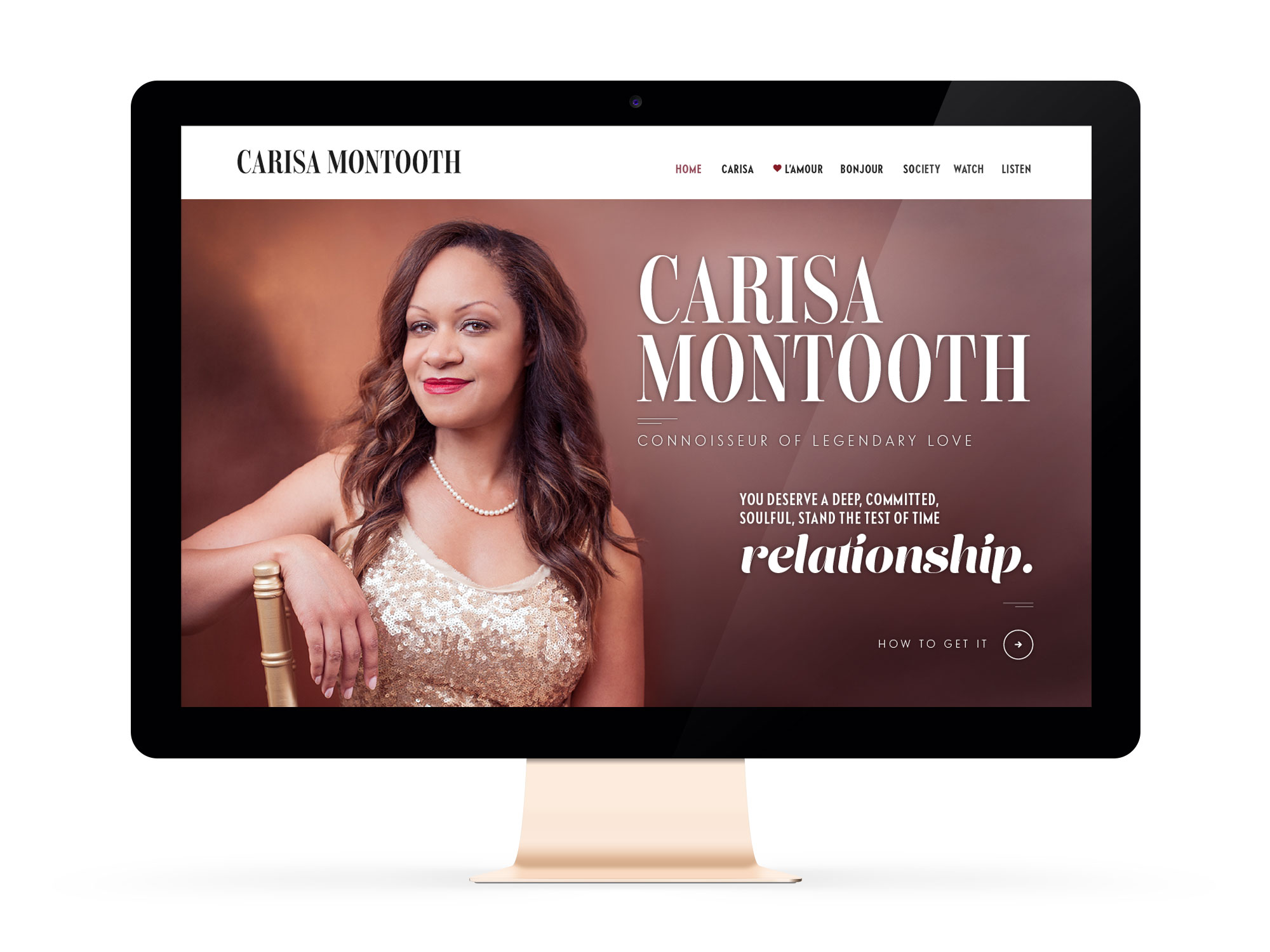 Beautiful Websites for Feminist Entrepreneur and Love Healer, Carisa Montooth