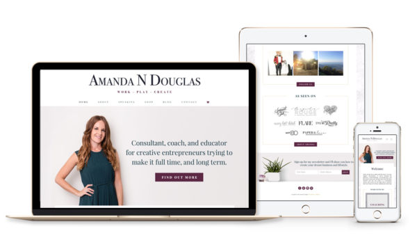 Winnipeg Web Design and Branding, Responsive Website Design for Amanda Douglas in Winnipeg, Manitoba