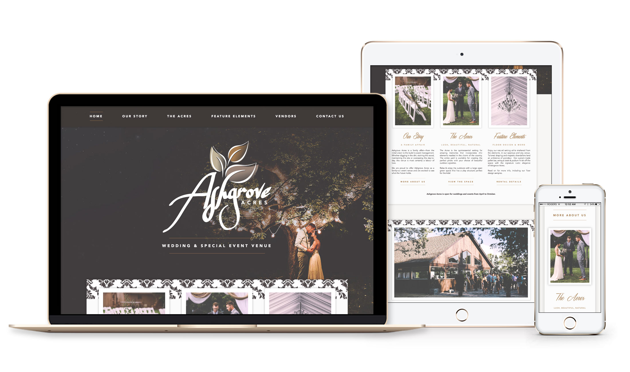Winnipeg Web Design and Branding, Responsive Website Design for Ashgrove Acres in Winnipeg, Manitoba