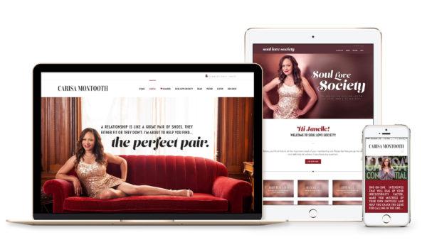 Winnipeg Web Design and Branding, Responsive Website Design for Carisa Montooth in Winnipeg, Manitoba