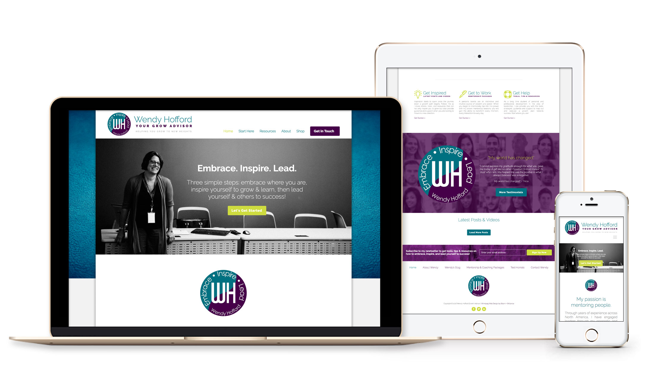 Winnipeg Web Design and Branding, Responsive Website Design for Wendy Hofford in Winnipeg, Manitoba