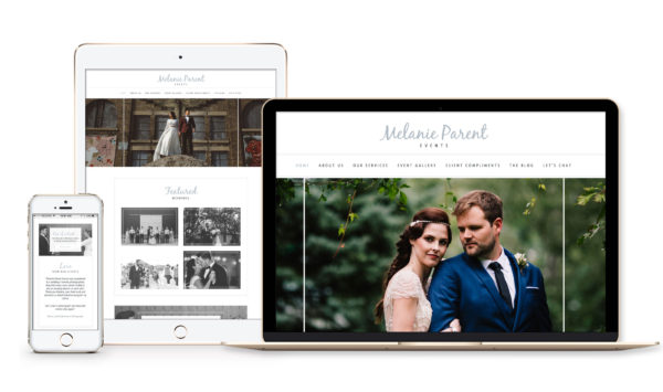 Winnipeg Web Design and Branding, Responsive Website Design for Melanie Parent Events in Winnipeg, Manitoba