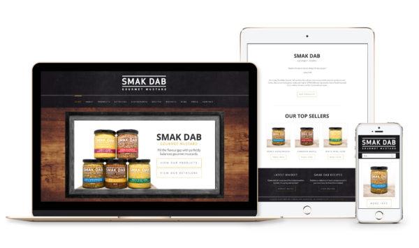 Winnipeg Web Design and Branding, Responsive Website Design for Smak Dab Gourmet Mustard in Winnipeg, Manitoba