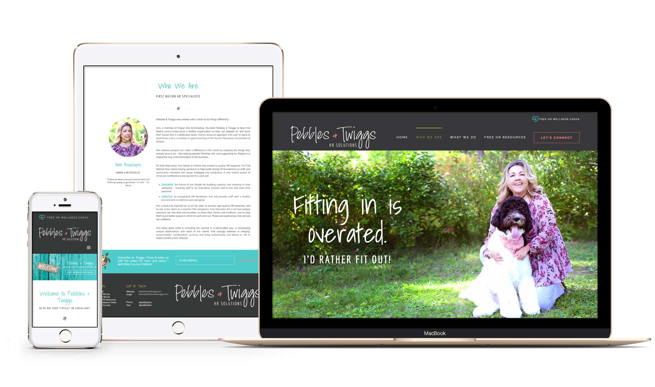 Winnipeg Website Design + Branding for Pebbles & Twiggs