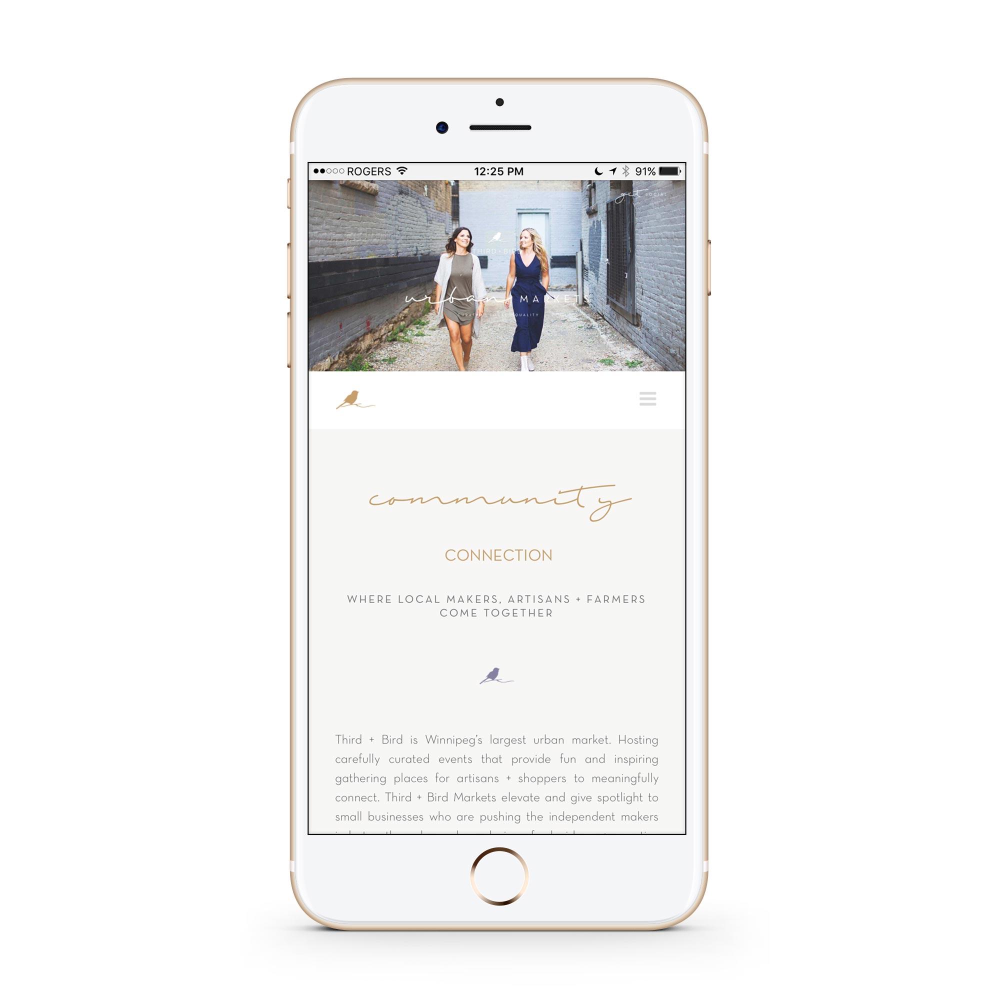 Third and Bird Winnipeg Website Design Branding iPhone