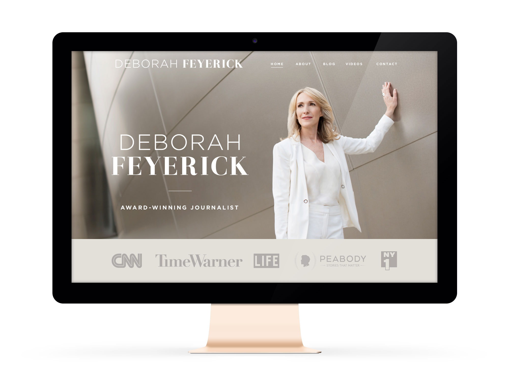 Beautiful Websites for Feminist Entrepreneurs and Journalist, Deborah Feyerick