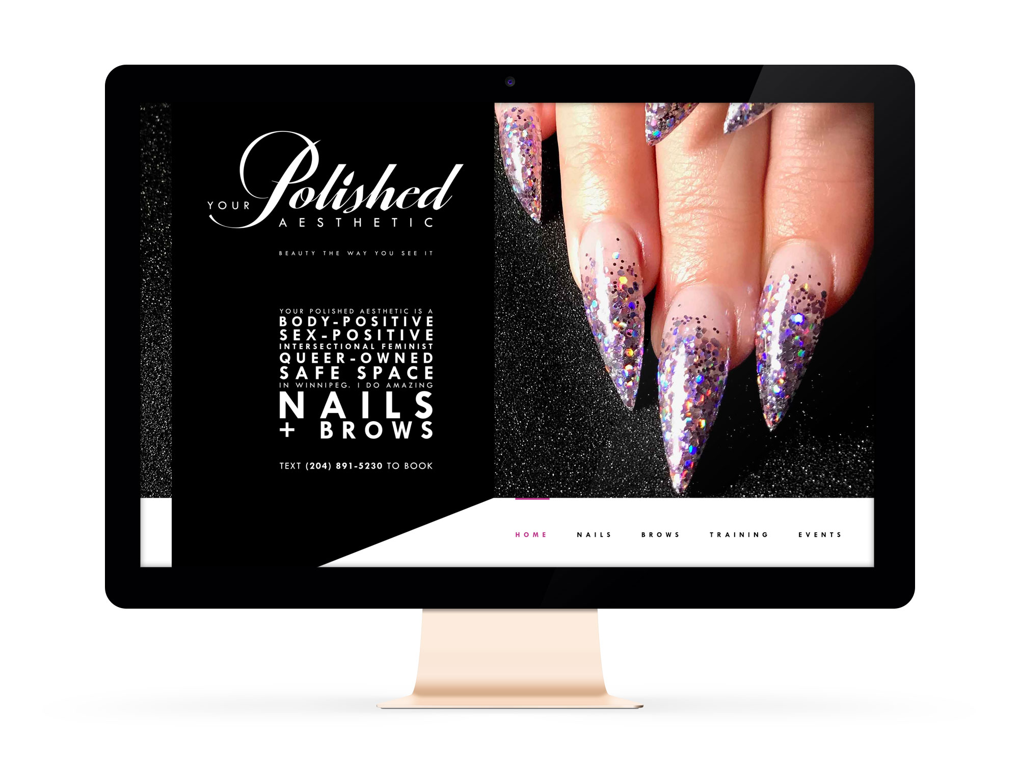 Beautiful Websites for Feminist Entrepreneurs and Aesthetician, Your Polished Aesthetic