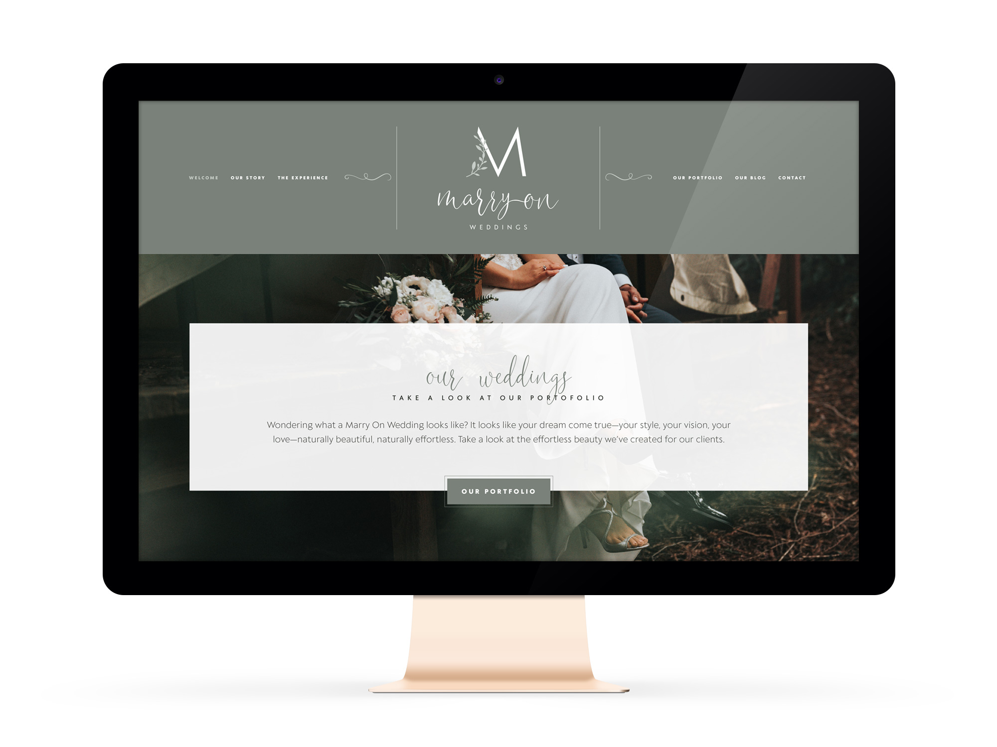 Beautiful Websites for Feminist Entrepreneurs and Wedding Planner, Marry On Weddings