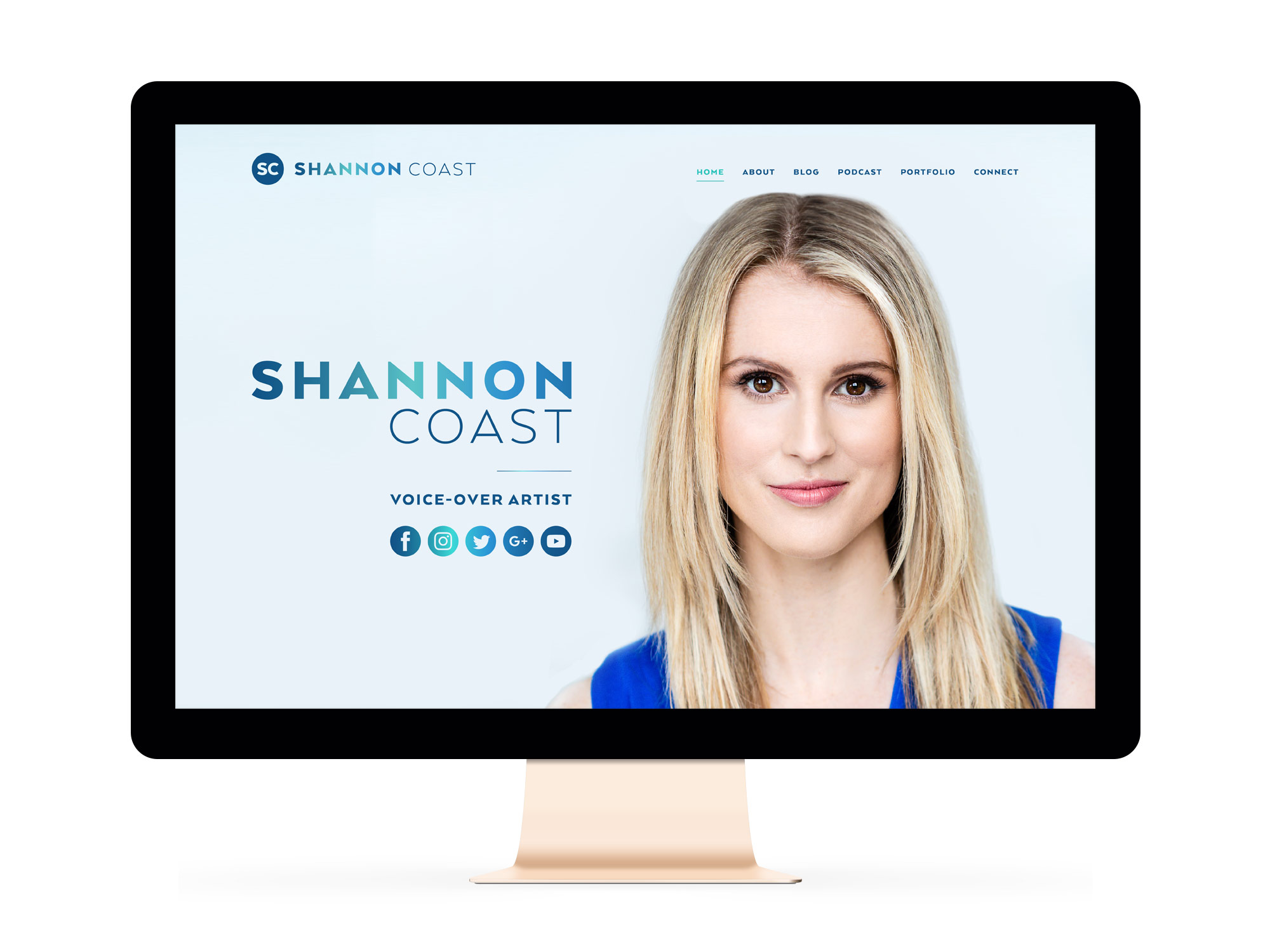 Beautiful Websites for Feminist Entrepreneur and Voice-Over Actor Shannon Coast