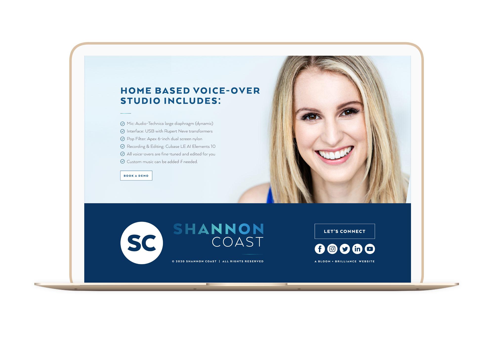 Shannon Coast Winnipeg Feminist Brands Website Design Feminist Entrepreneurs Laptop