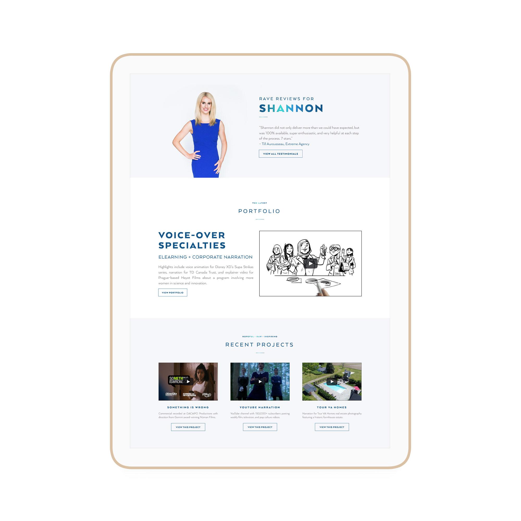 Shannon Coast Winnipeg Feminist Brands Website Design Feminist Entrepreneurs iPad
