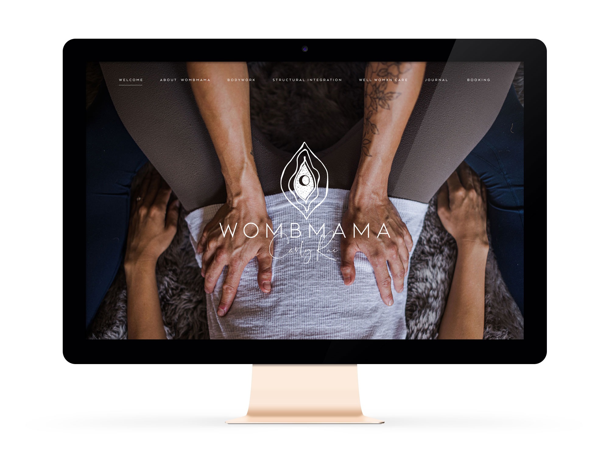 Beautiful Branding and Websites for Feminist Entrepreneurs holistic body work practitioner Wombmama, Carly Rae