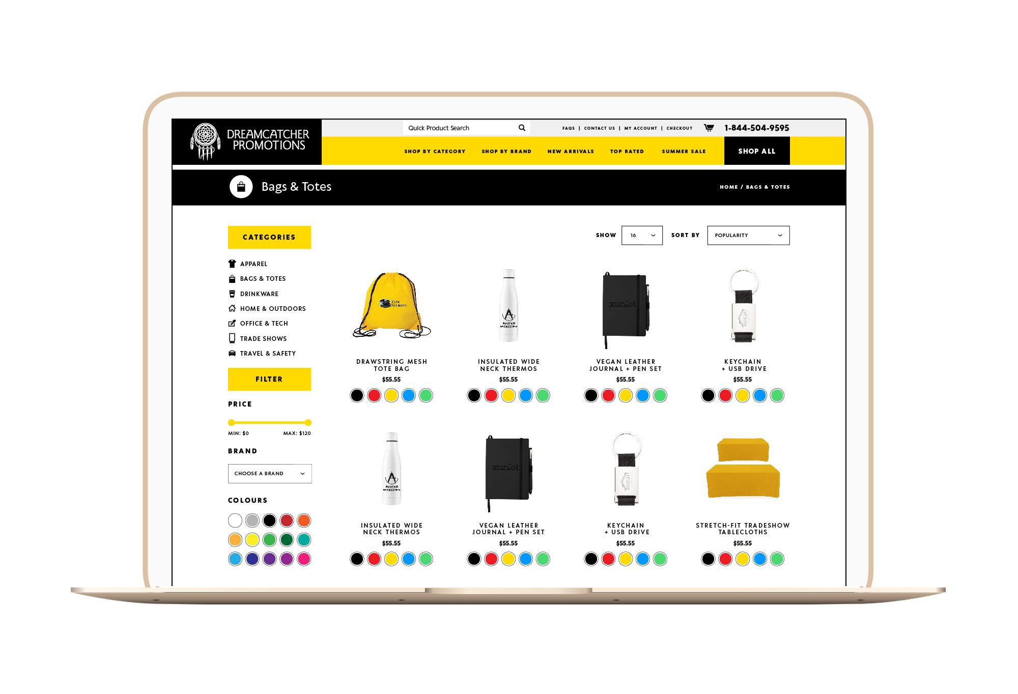 Dreamcatcher Winnipeg Feminist Brands Website Design Feminist Entrepreneurs Laptop