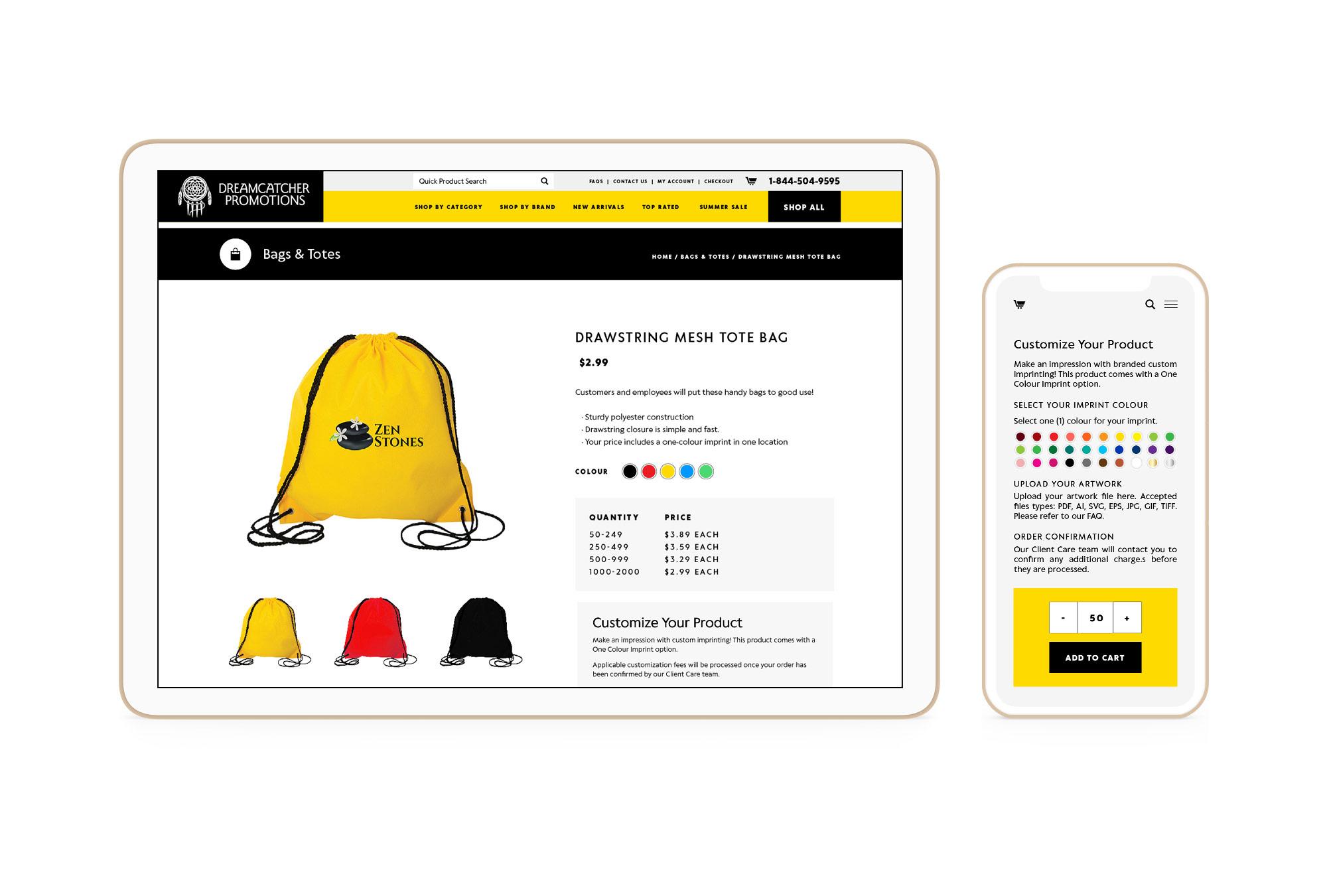 Dreamcatcher Winnipeg Feminist Brands Website Design Feminist Entrepreneurs Responsive