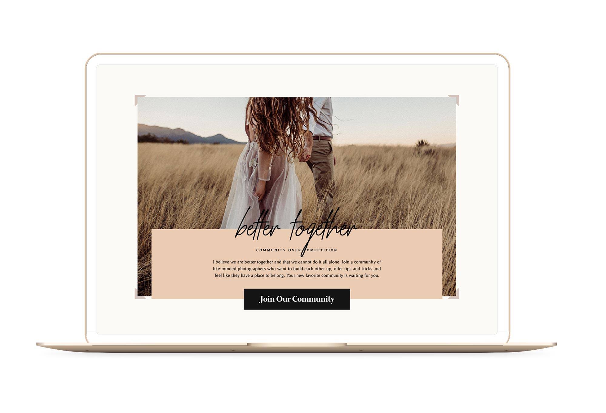 Embrace Nation Winnipeg Feminist Brands Website Design Feminist Entrepreneurs Laptop