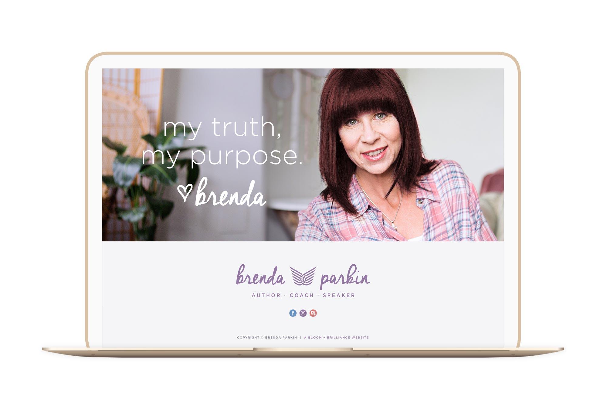 Brenda Parkin Winnipeg Feminist Brands Website Design Feminist Entrepreneurs Laptop