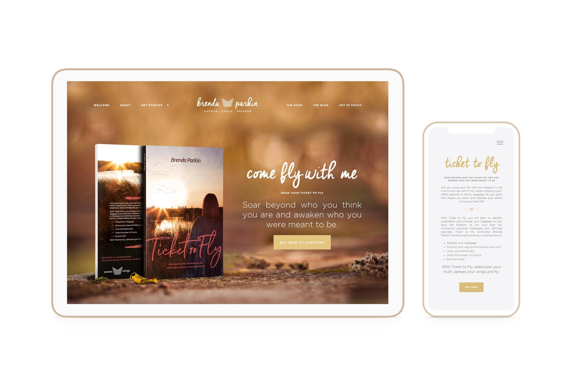Brenda Parkin Winnipeg Feminist Brands Website Design Feminist Entrepreneurs Responsive