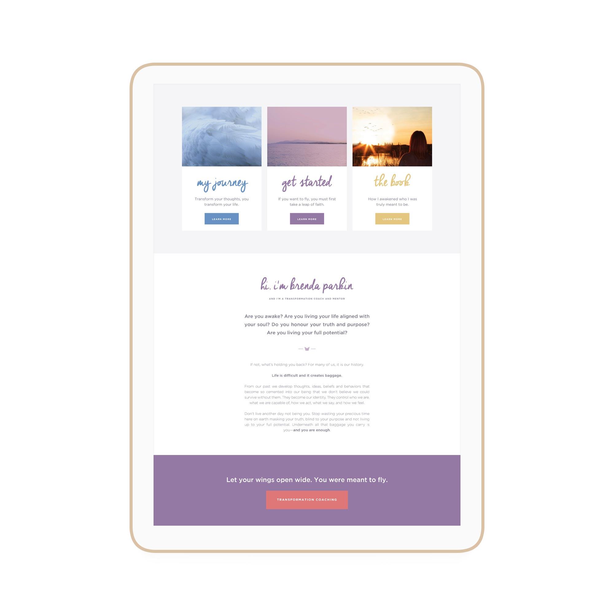 Brenda Parkin Winnipeg Feminist Brands Website Design Feminist Entrepreneurs iPad