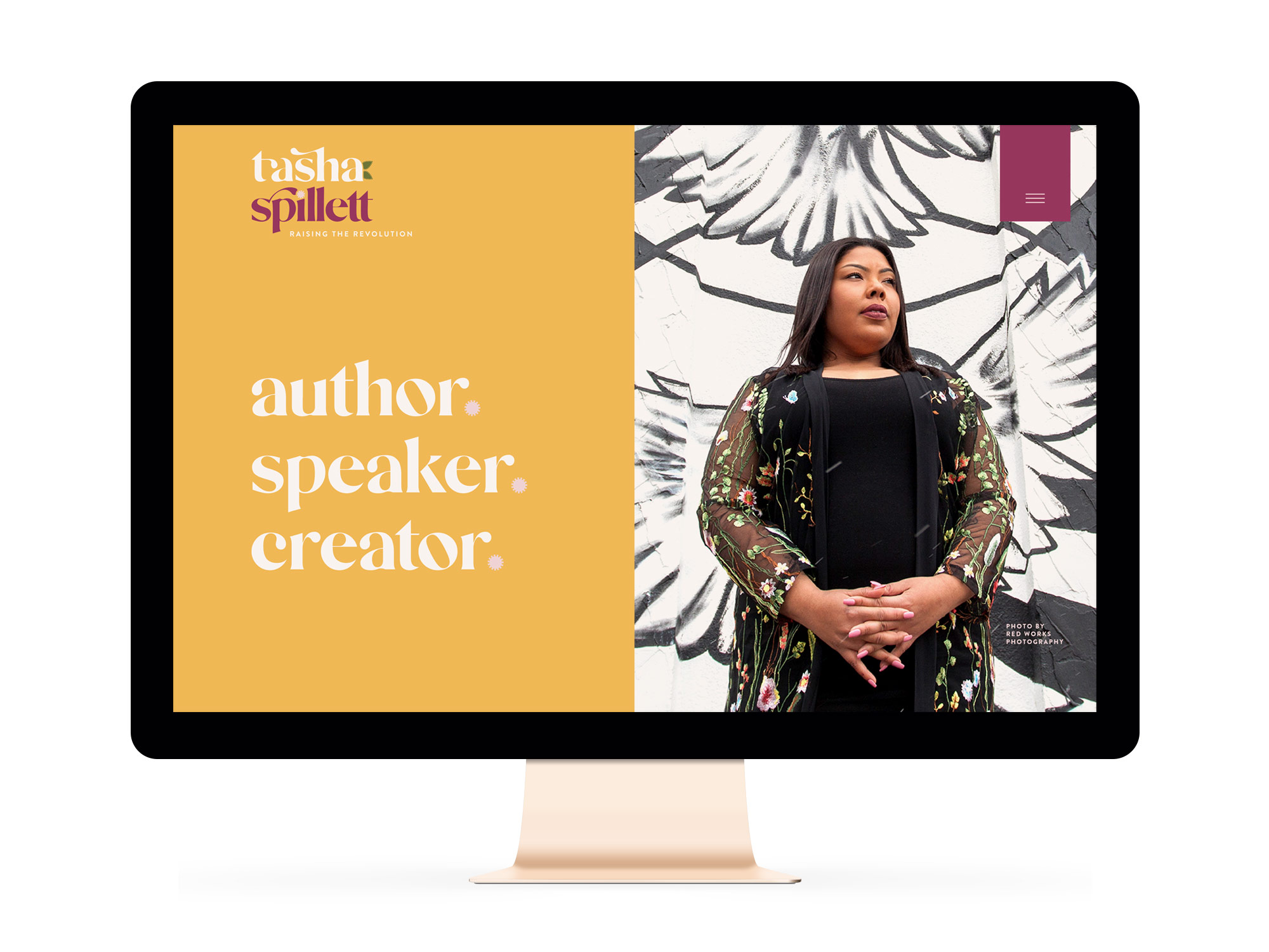 Branding and Website Design for Indigenous and Black Feminist Entrepreneur and Author Tasha Spillett