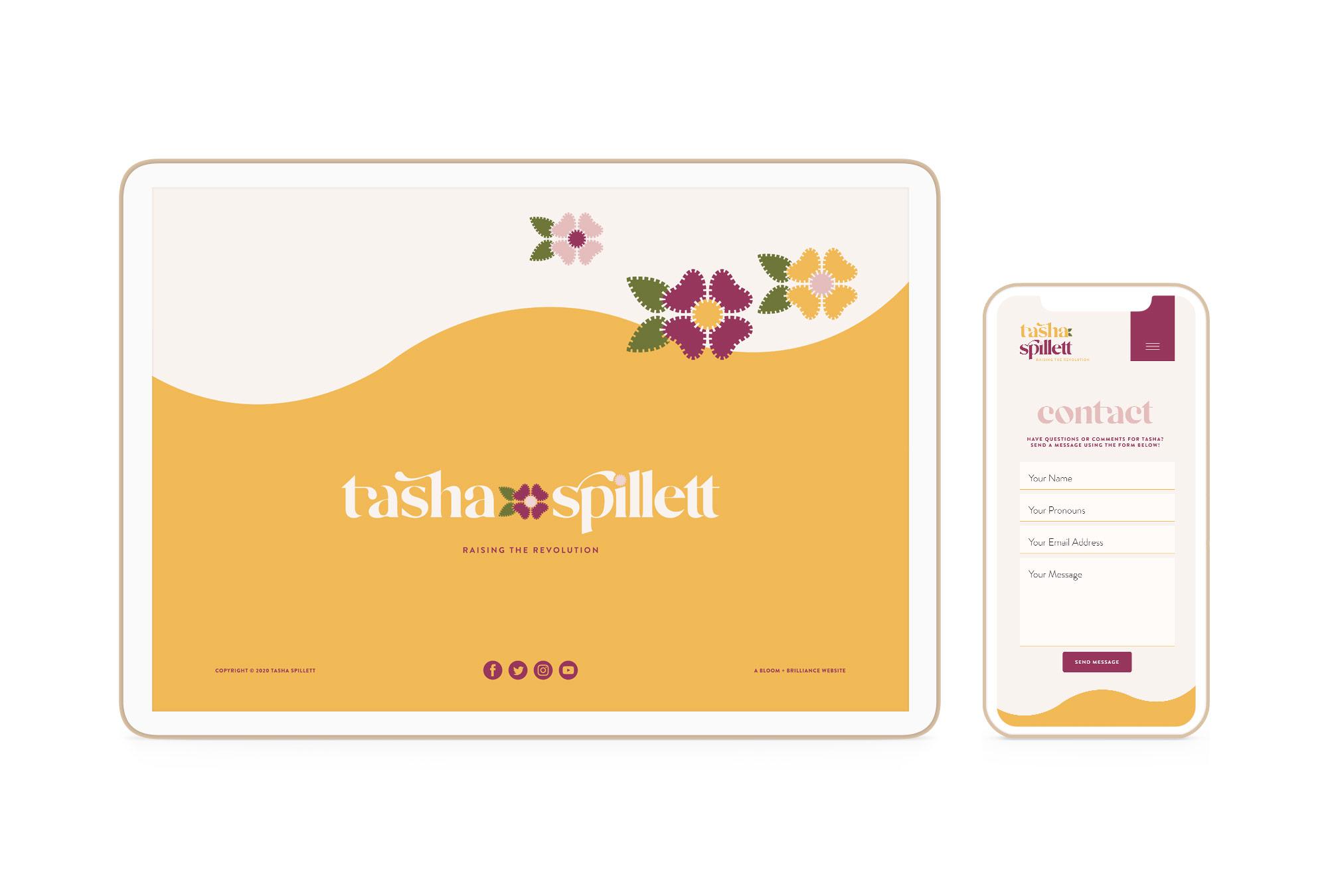 Branding and Website Design for Indigenous and Black Feminist Entrepreneur and Author Tasha Spillett