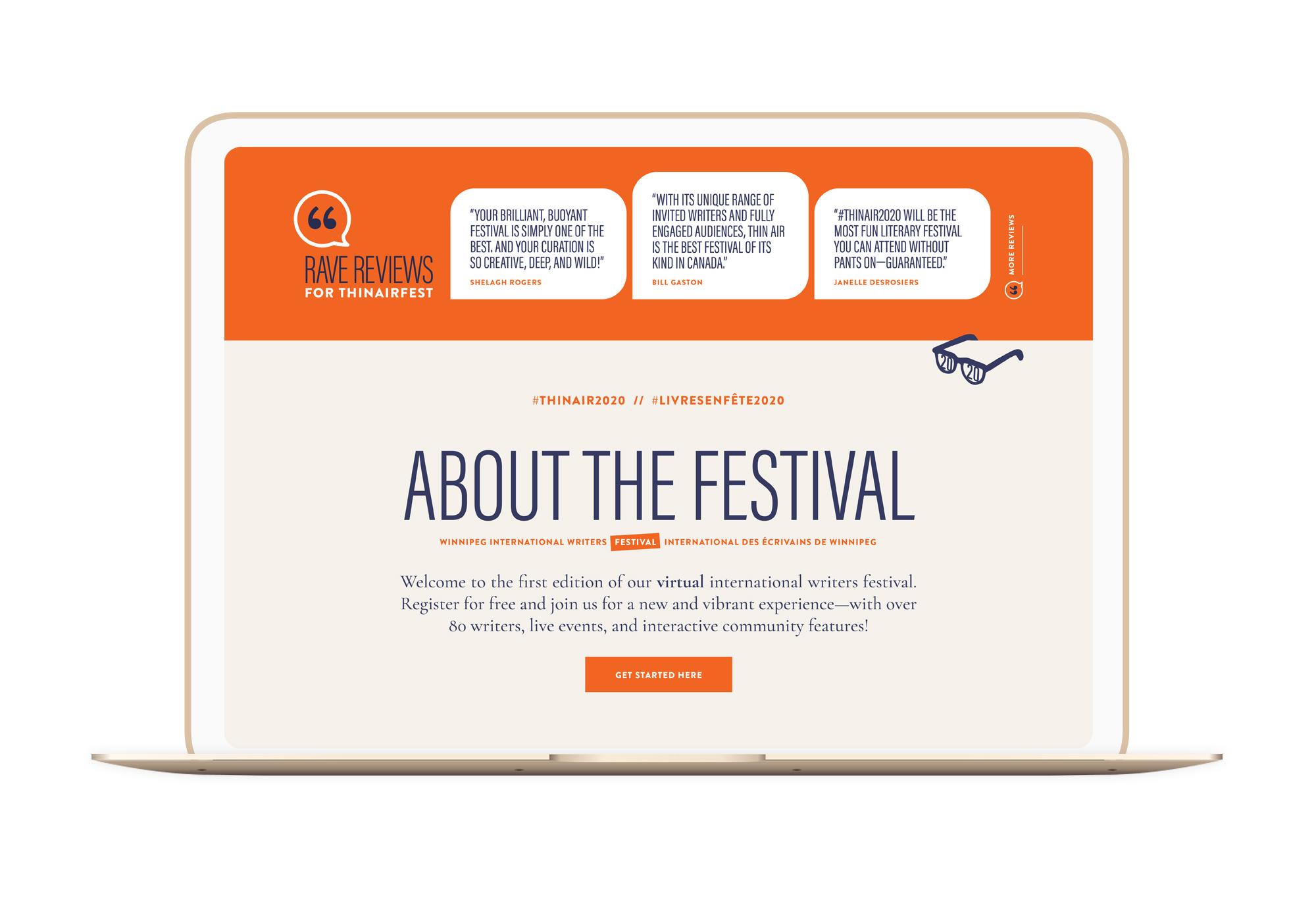 Thin Air Festival Winnipeg Feminist Brands Website Design Feminist Entrepreneurs Laptop