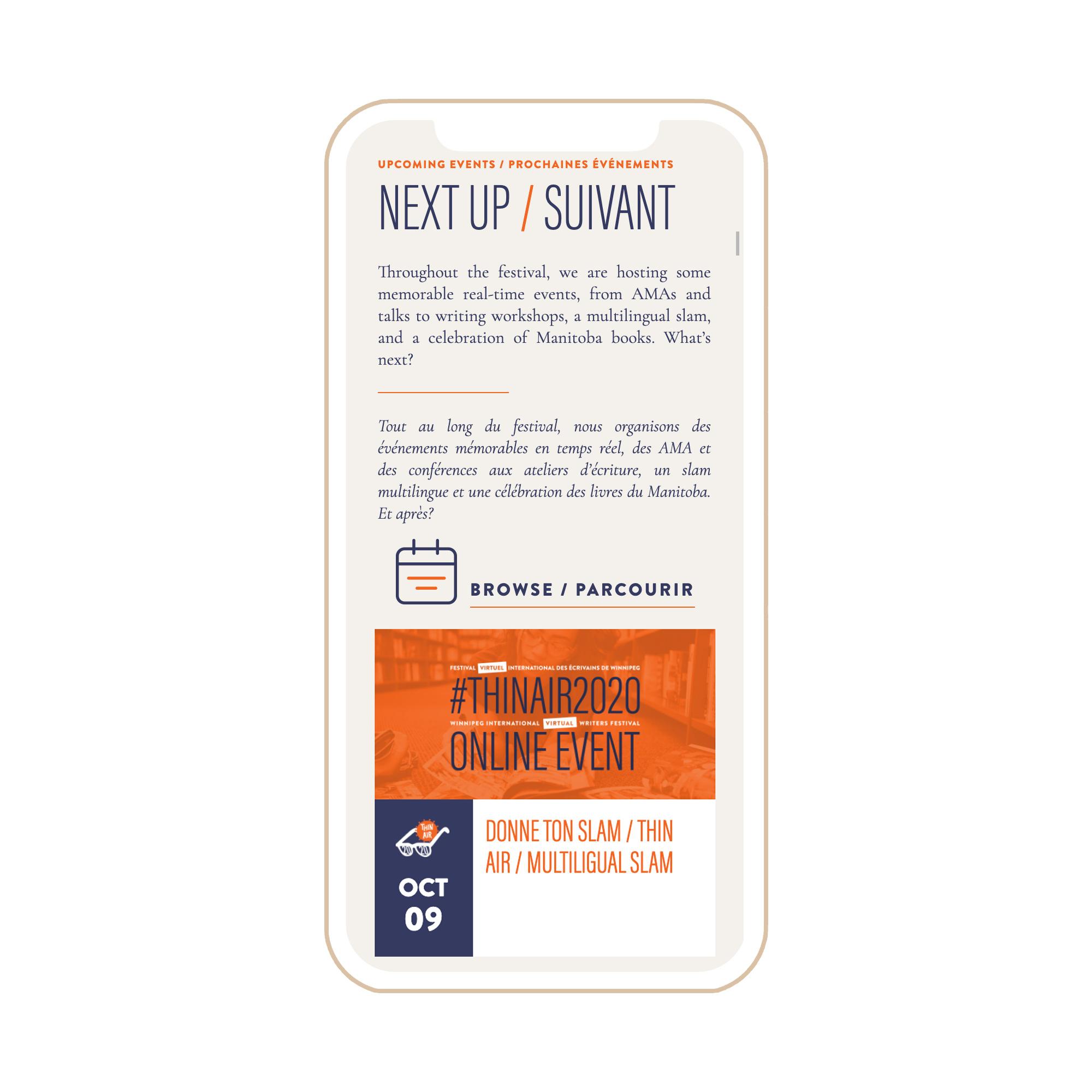 Thin Air Festival Winnipeg Feminist Brands Website Design Feminist Entrepreneurs iPhone